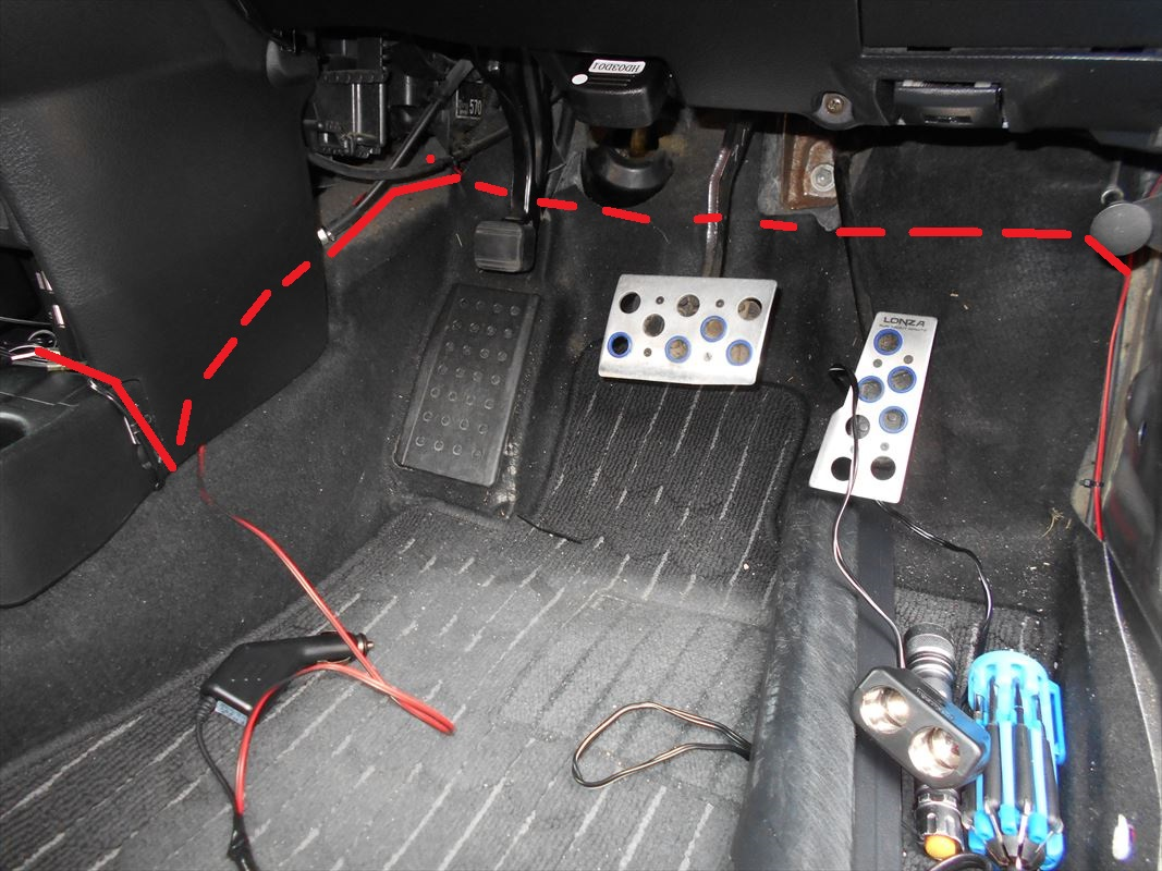 【取付】リアドライブレコーダー設置(2/2)