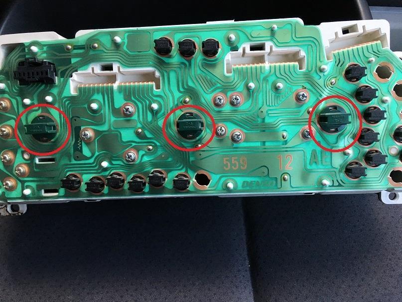 ワゴンR MC22S メーター照明交換 LED SMD