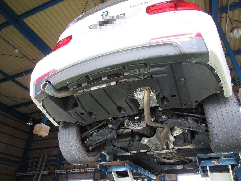 マフラー交換 BMW F30 320d アーキュレーステンレスマフラー