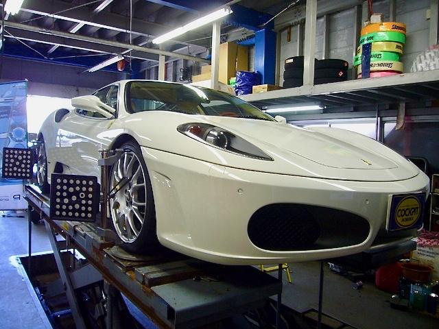 フェラーリ F430 F1のアライメント調整