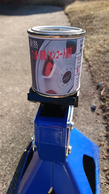 ブレーキキャリパー、ローター塗り塗り