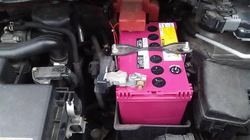 洗車とバッテリー交換