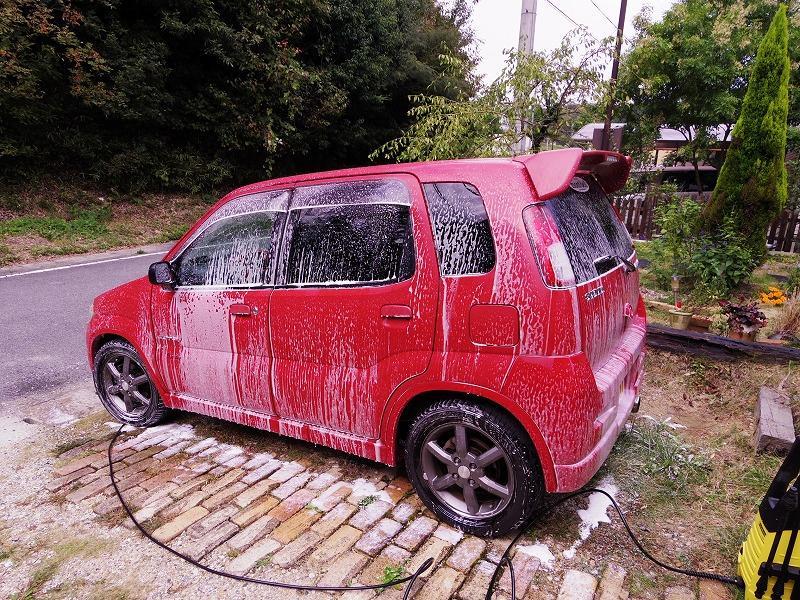 高圧洗浄機での洗車