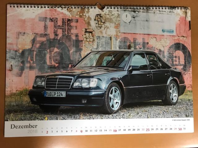 W124   2018カレンダー