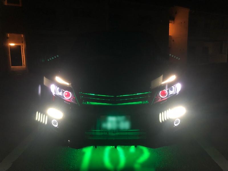 ヘッドライトにイカリングとモノアイ化④+α