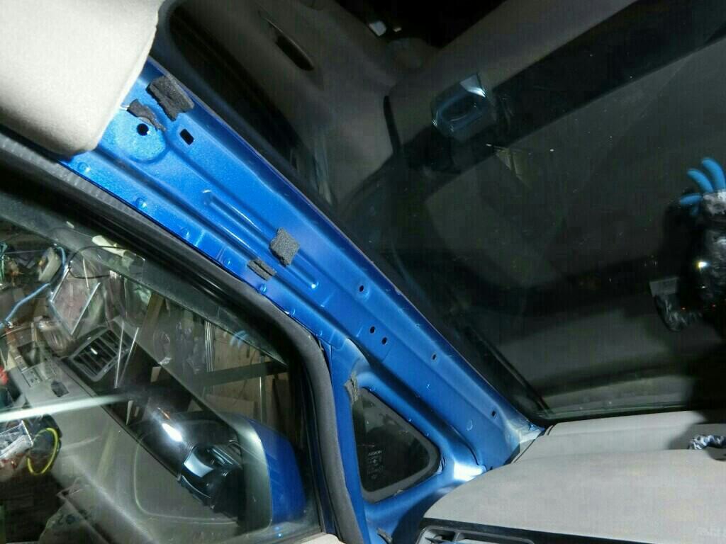 エディックス : ドライブレコーダー&ETC、の取り付け。(ケーブル類の埋め込み)