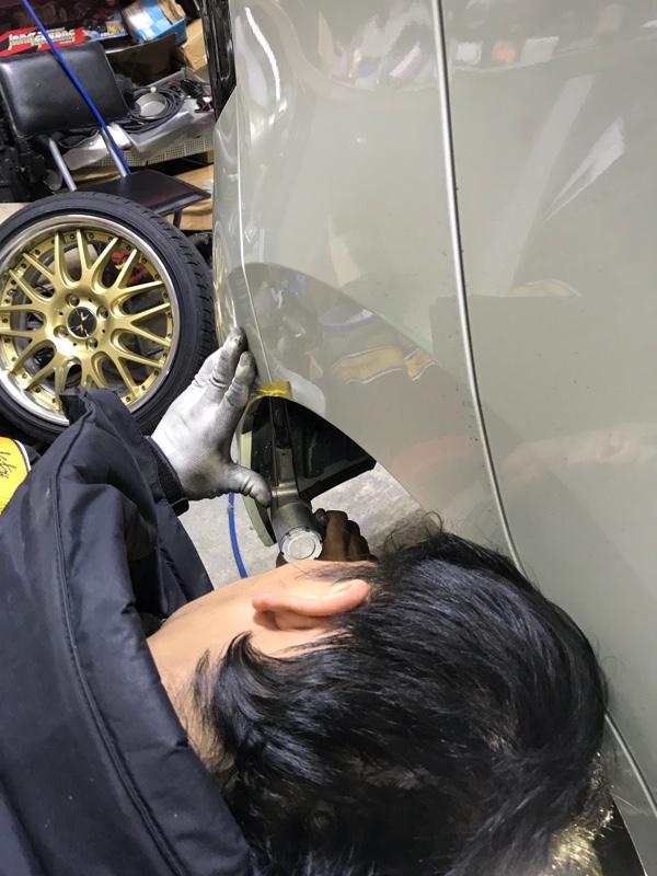 タイヤハウス+ライナー加工