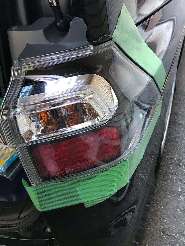 BRIGHT X リフレクター取り付けと洗車