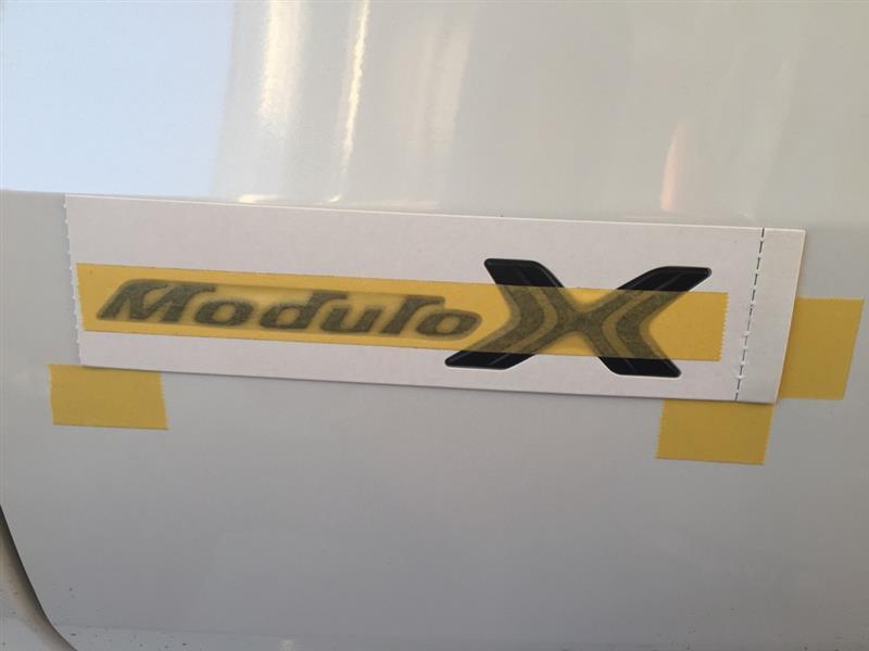 Modulo X エンブレム貼付