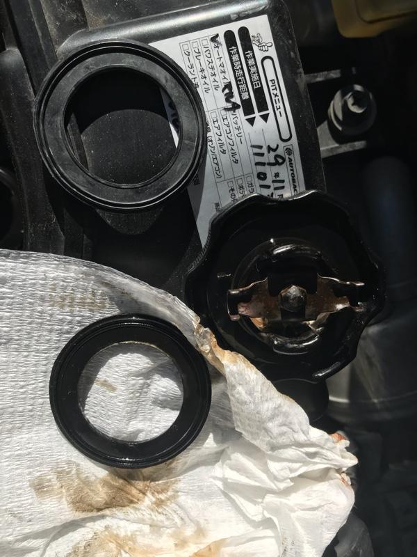 エンジンオイルフィラーキャップのガスケット交換