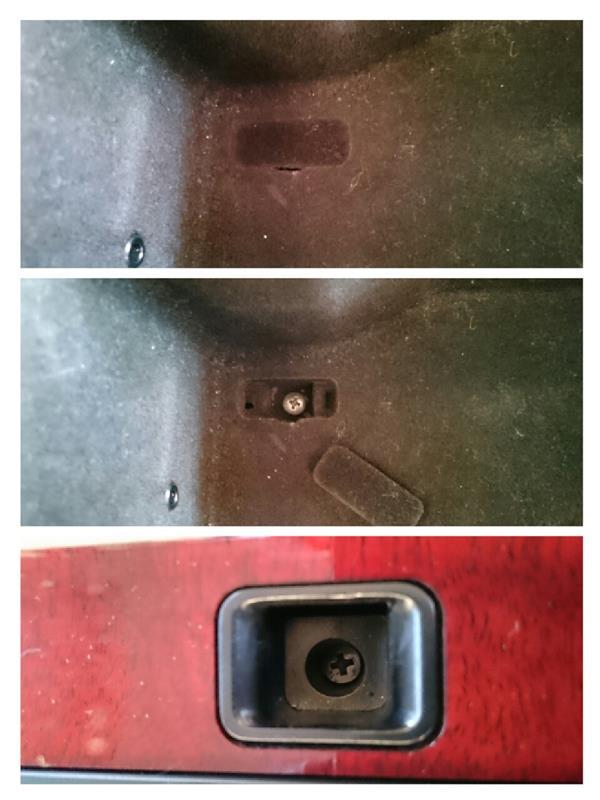リヤアームレスト内パワーシートSWのイルミ電球交換