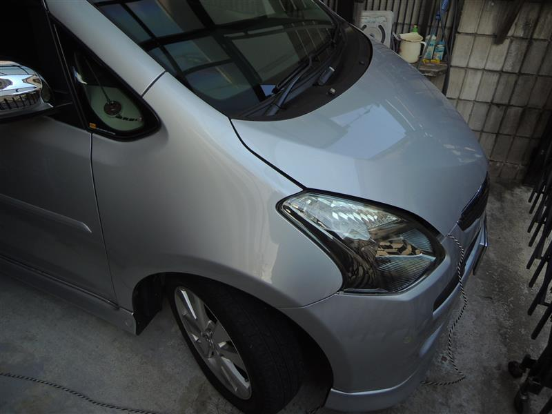 冷え込みで洗車は放置してたが・・・^^