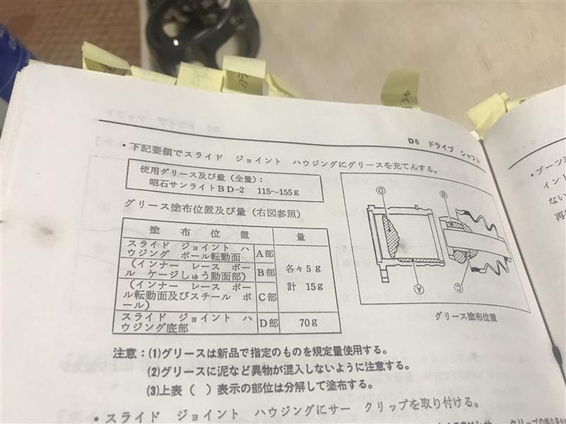 ドライブシャフトOH5 〜磨きと組付編