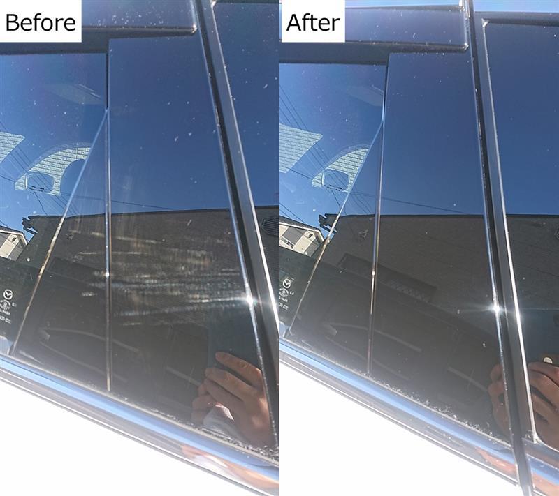 ピアノブラックの洗車傷