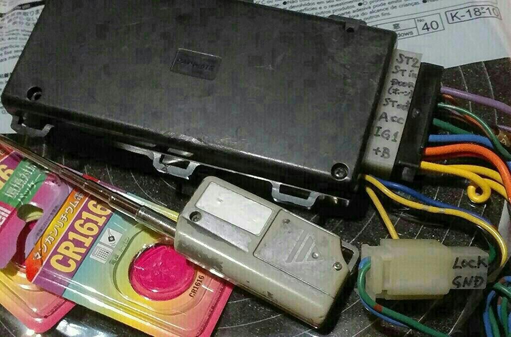 GX81チェイサー : CARMATE TE590、リモコンエンジンスターターのキーレスリモコン、電池交換。