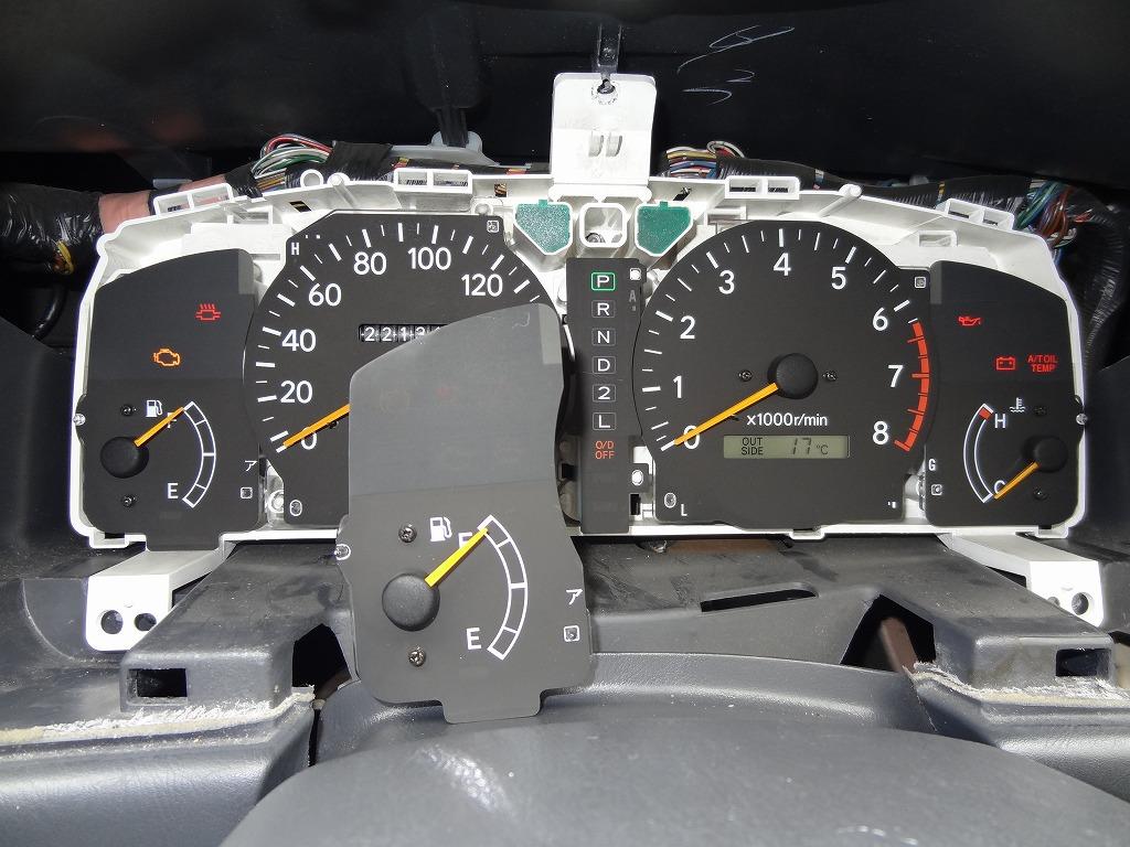 オドメーター交換と走行距離合わせ。その後、他の計器類も交換。