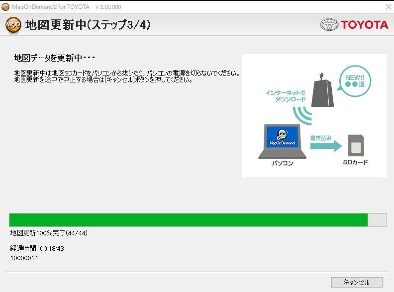 ナビデータ更新④
