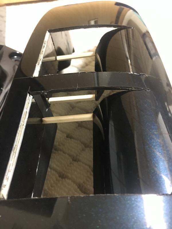 リアコーナーパネルの自作ダクト加工その2