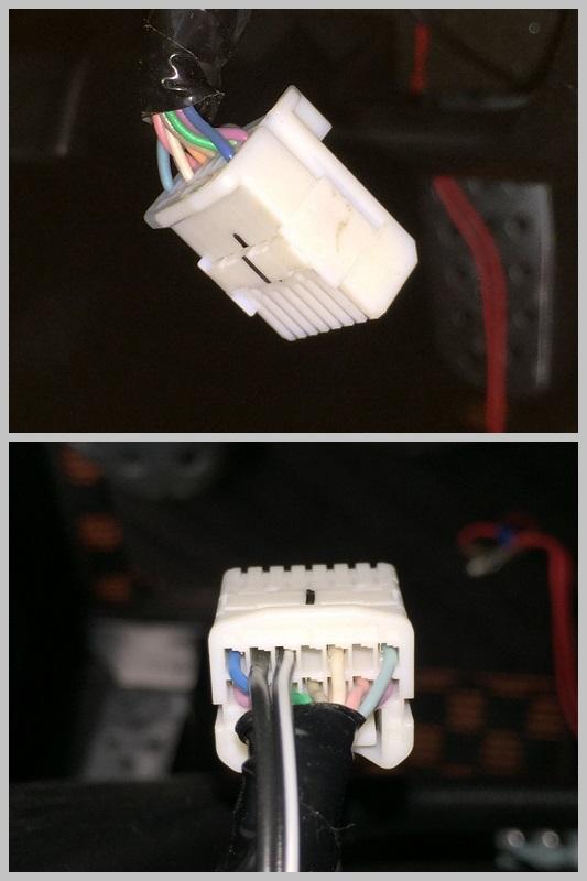 ステアリングに有線スイッチ新設