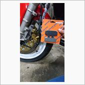 NSR125F フロントブレーキパッド交換