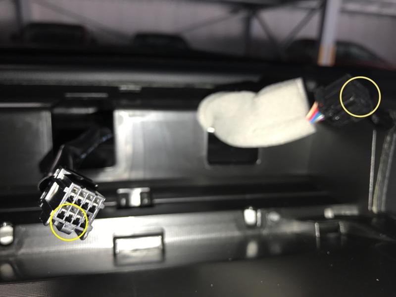 MFDパネル WRX S4用(赤ステッチ)取り付け
