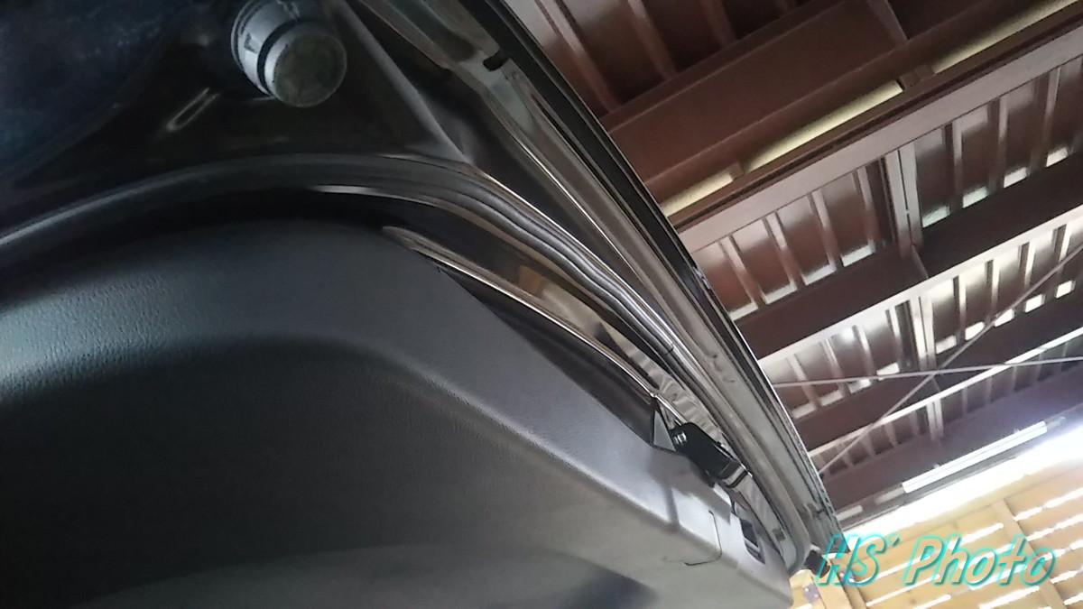 風切り音防止テープを貼ってみたw