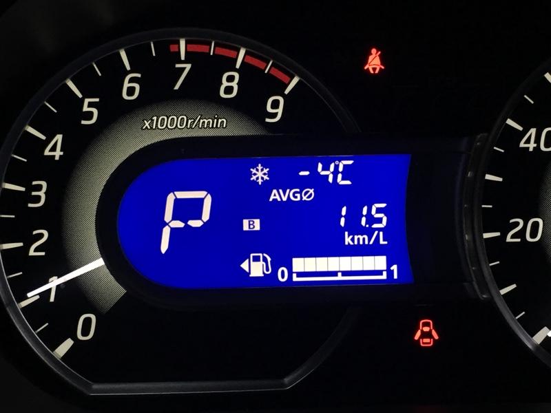 −3℃〜−4℃での洗車