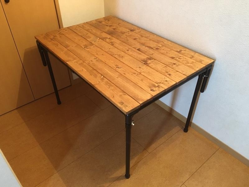 ラゲッジラック兼テーブルのDIY