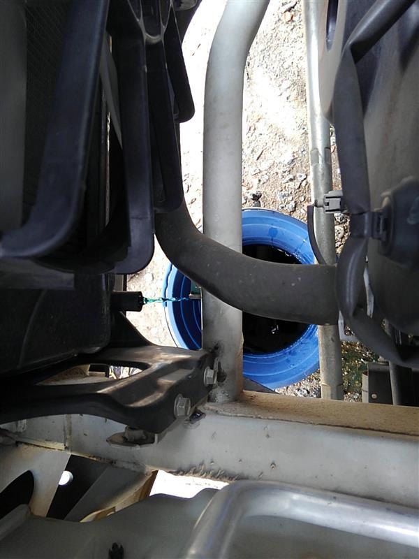 冷却水の交換・テンプメーターの設置
