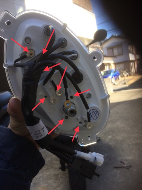 後半 ジョグ-JOG スピードメーター 分解&交換
