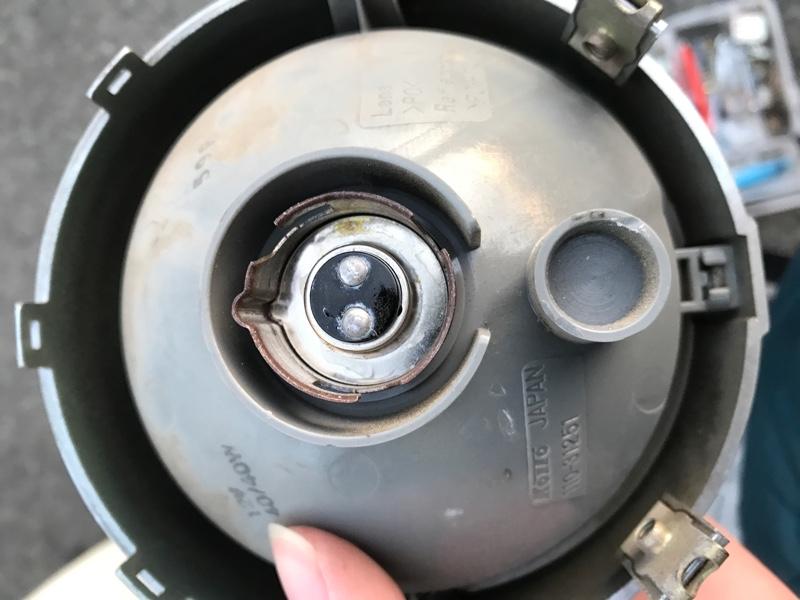 ヤマハメイトのヘッドライト交換