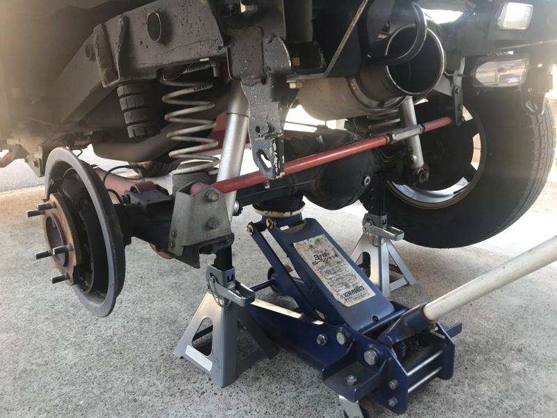 ドラムブレーキ分解清掃給油