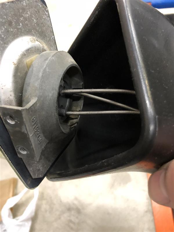 運転席側ドアミラー補修