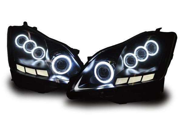 18#系クラウン(ゼロクラウン)3Dアクリル&イカリング/プロジェクターカスタムヘッドライト