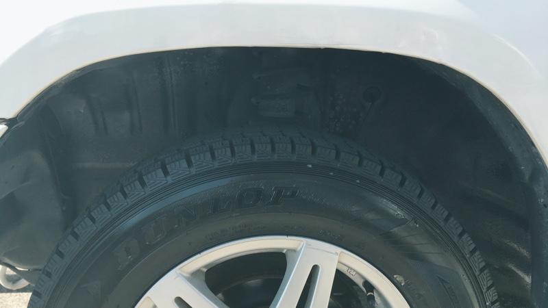 タイヤハウス黒塗り