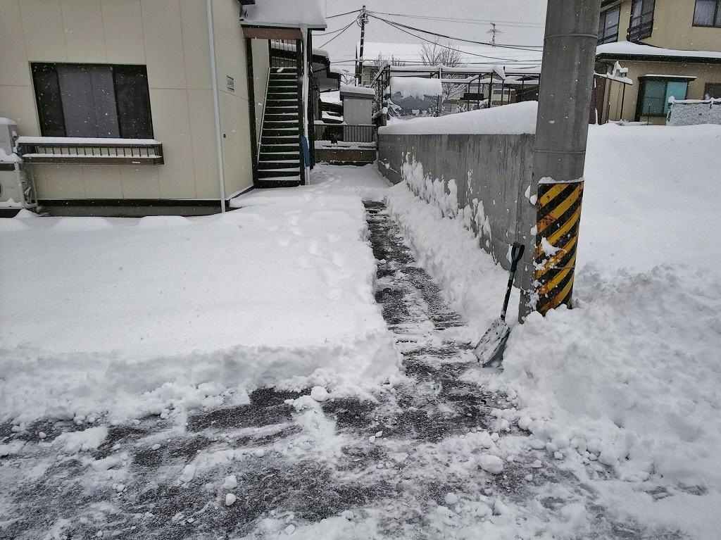 駐車スペース確保(ただの雪かきです)