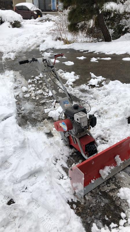 除雪機使ってお庭の除雪する!