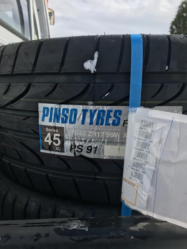 タイヤ組み替え🔧