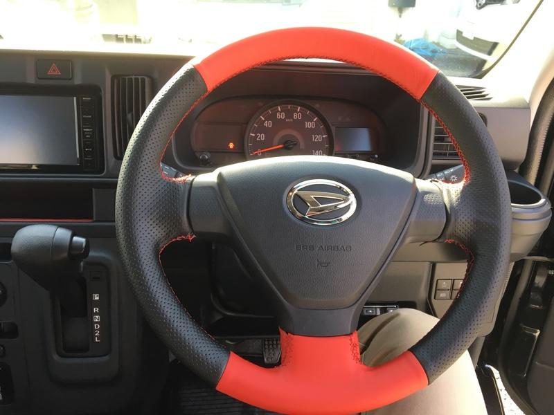 運転席周りドレスアップ(赤/黒) その1