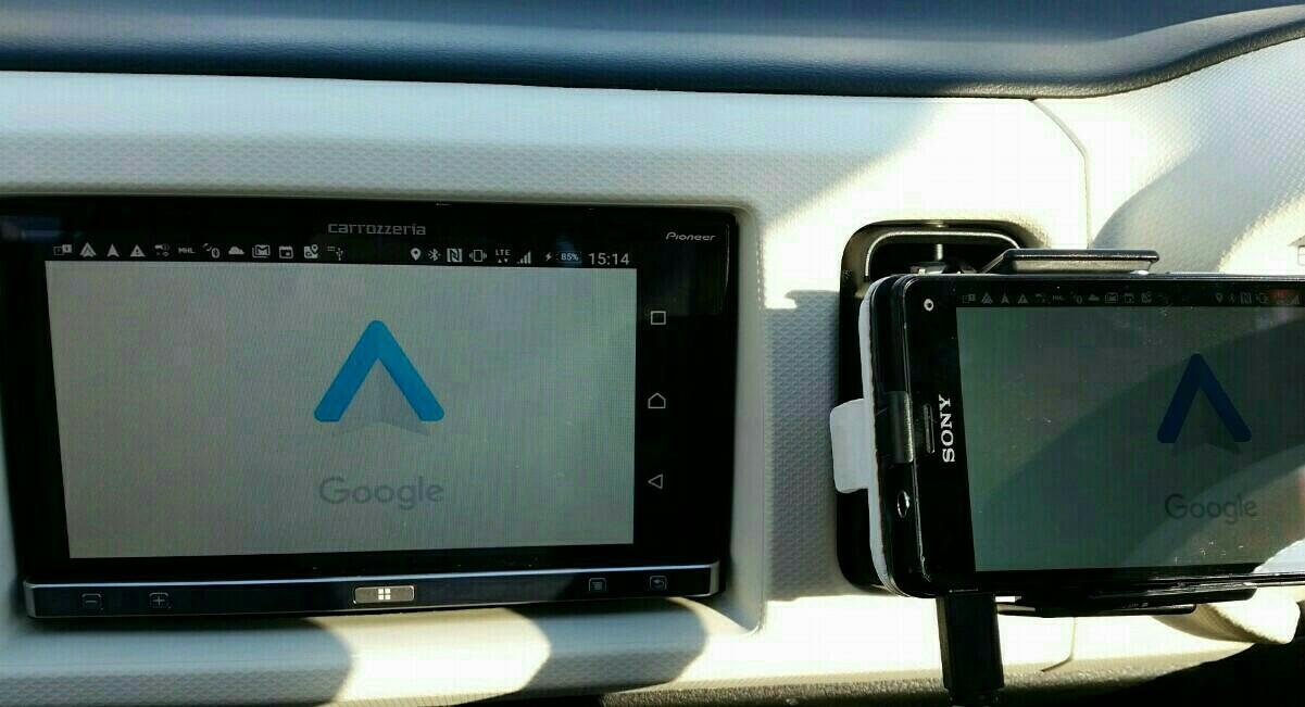 Google auto で快適に🎵