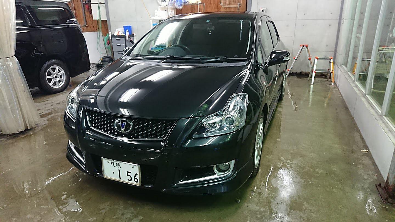 長距離ドライブ後の洗車