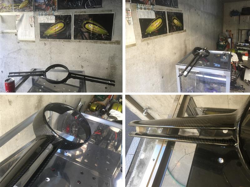 W176 AMGカーボングリルトリム クリアー塗装にて修正(けんもんさんからのご依頼♪)