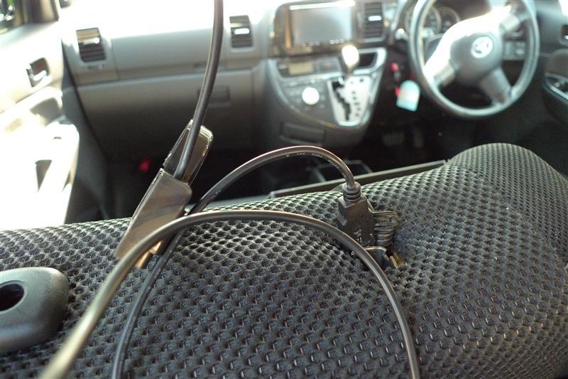 後席USBポート取付②