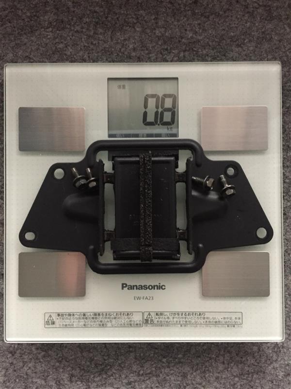 マフラー体重測定