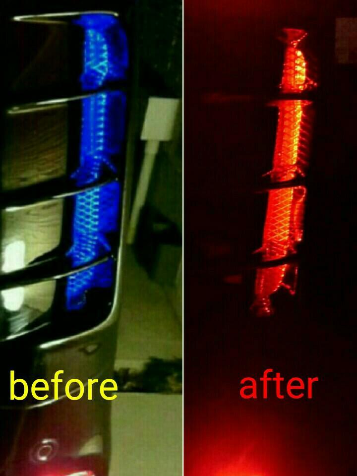 フロントアンダーイルミとリアコーナーダクトイルミを赤色化