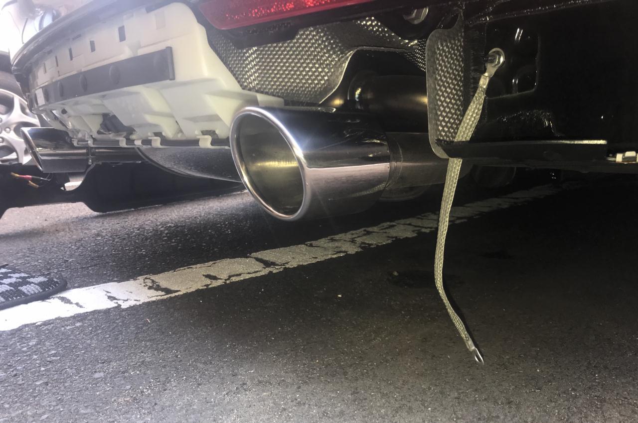 BMW 420i LCI マフラーアーシング