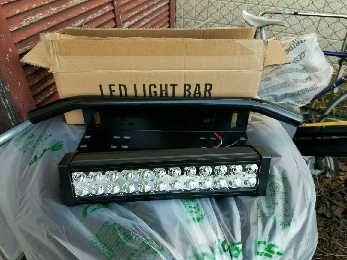 ナンバー共締めフォグランプステー&LEDライトバー取り付け