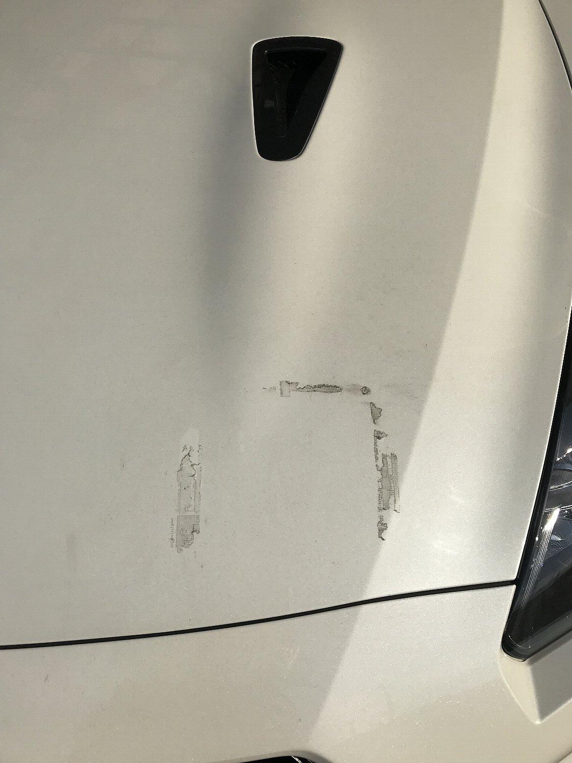 ガムテープ貼付痕の除去