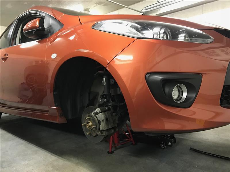 ブレーキパット、ブレーキフルード交換DIY