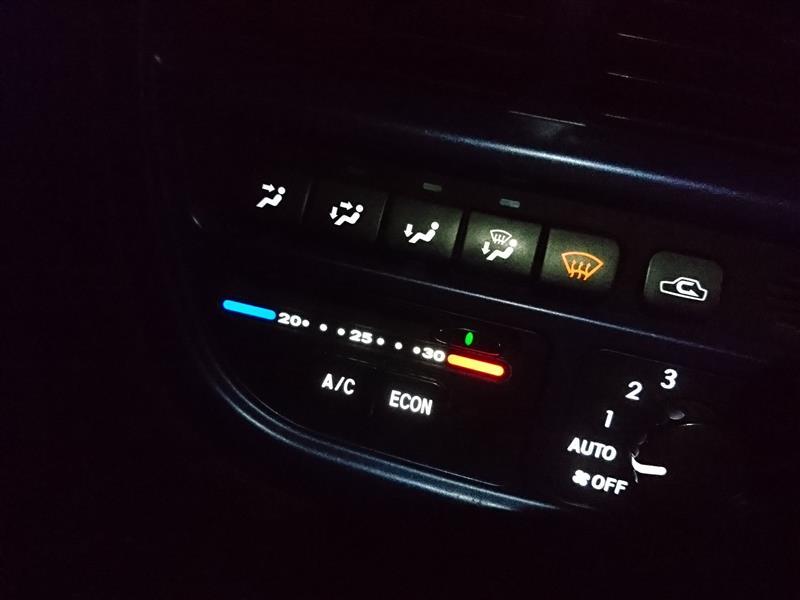 オートエアコン照明のLED化